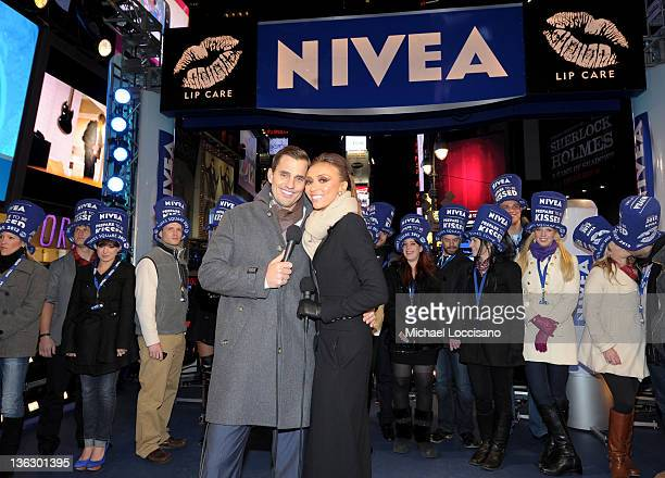 Bill Rancic and Giuliana Rancic attend Bill Giuliana Rancic Ring In New Year's Eve 2012 With NIVEA at Times Square on December 31 2011 in New York...