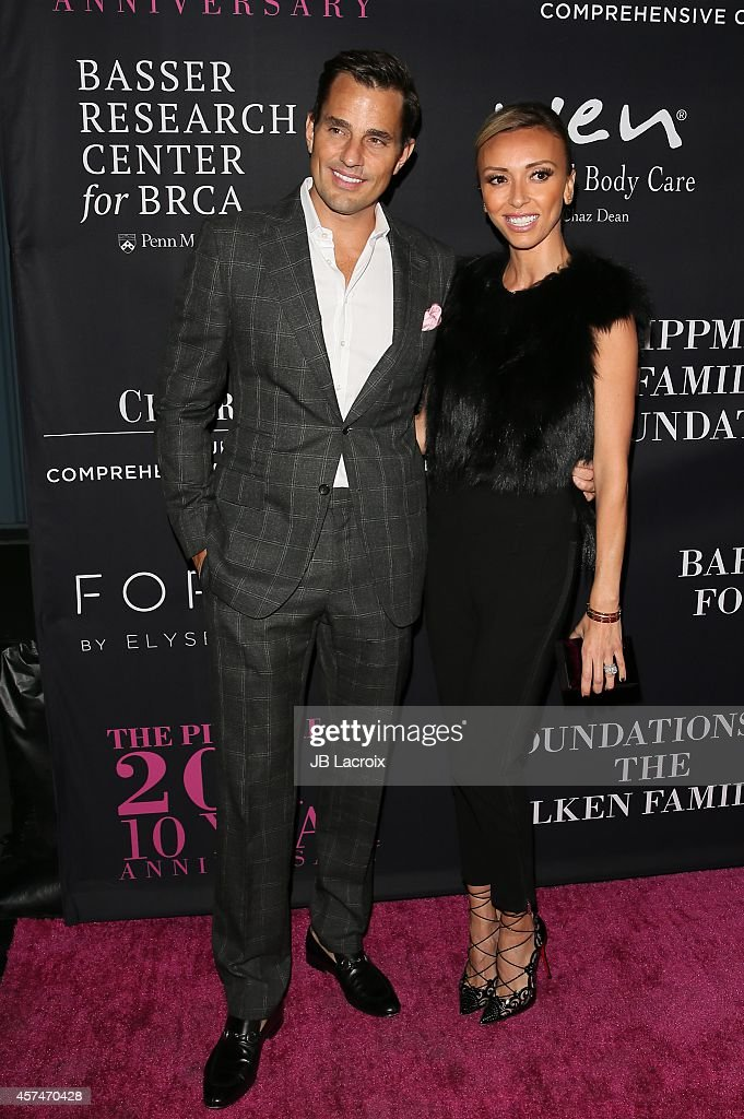 Bill Rancic and Giuliana Rancic attend Elyse Walker presents the 10th anniversary Pink Party hosted by Jennifer Garner and Rachel Zoe at HANGAR 8 on October 18, 2014 in Santa Monica, California.