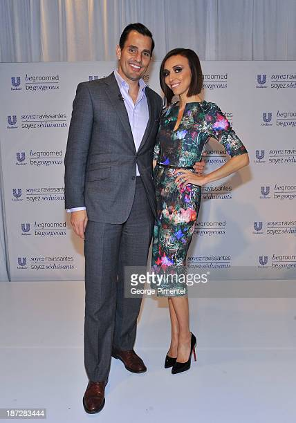 Bill Rancic and Giuliana Rancic host Unilever Canada's Be Groomed Be Gorgeous Media Launch Event at Andrew Richard Designs on November 7 2013 in...