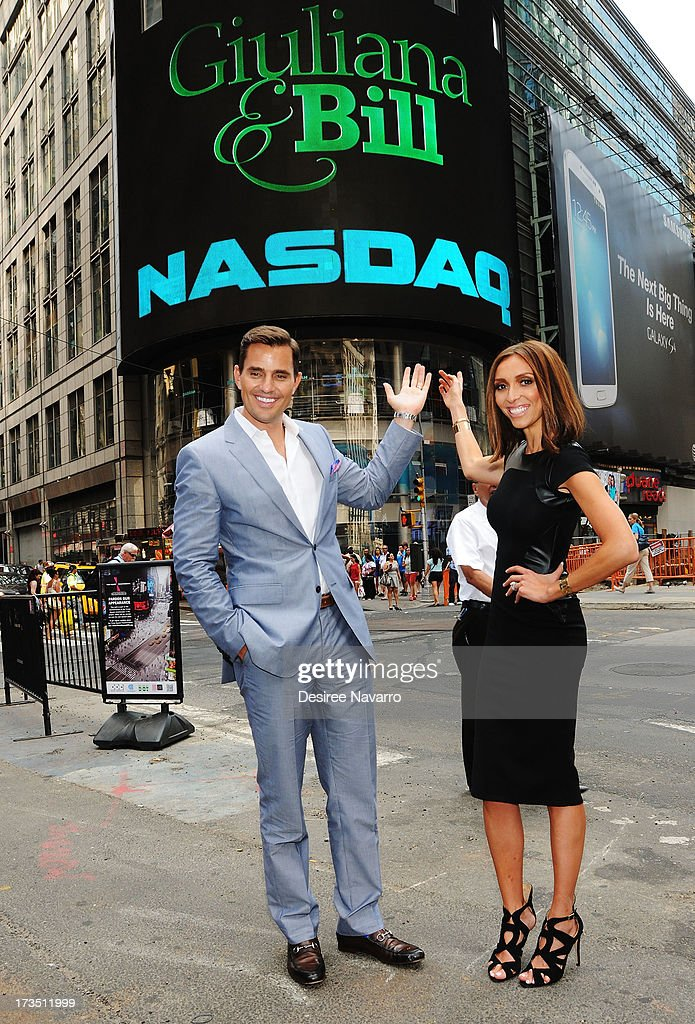 Bill Rancic and Giuliana Rancic ring the NASDAQ closing bell at NASDAQ MarketSite on July 15, 2013 in New York City.