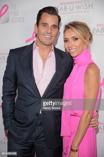 Bill Rancic and his wife event host and TV presonality Giuliana Rancic pose during The Pink Agenda 2016 Gala arrivals at Three Sixty on October 13...