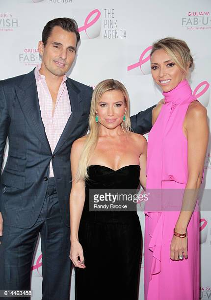 Bill Rancic Fitness Entrepeneur Tracy Anderson and event host and TV presonality Giuliana Rancic pose during The Pink Agenda 2016 Gala arrivals at...