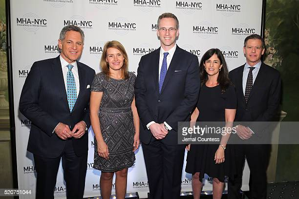 Bill Ritter Amy Kennedy Charles Fitzgerald Jennifer Ashley and Ric Clark attend 2016 Many Faces Of Mental Health Gala at The Pierre Hotel on April 12...