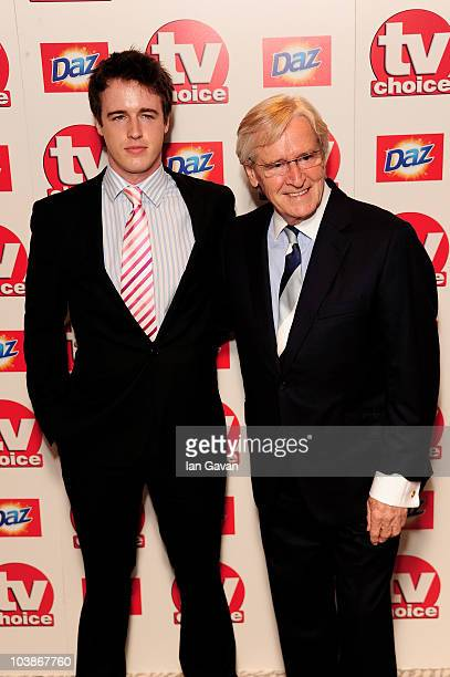 Bill Roache and son James arrives at the TV Choice Awards 2010 at The Dorchester on September 6 2010 in London England