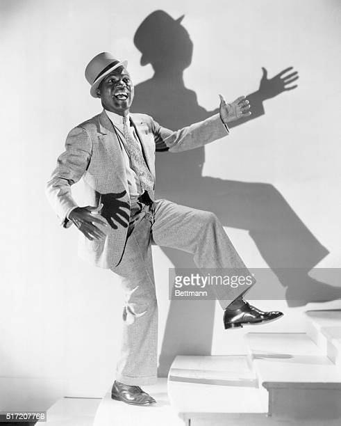 Bill Robinson is a most articulate man He expresses his hapiness with every gesture but particularly with his famous tap dancing feet He is shown...