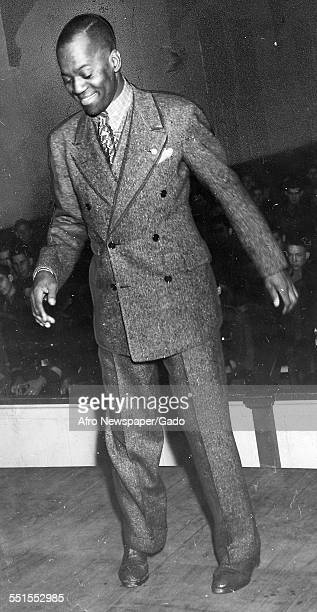 Bill Robinson the entertainer actor and dancer also known as Bojangles dancing, December 20, 1939.
