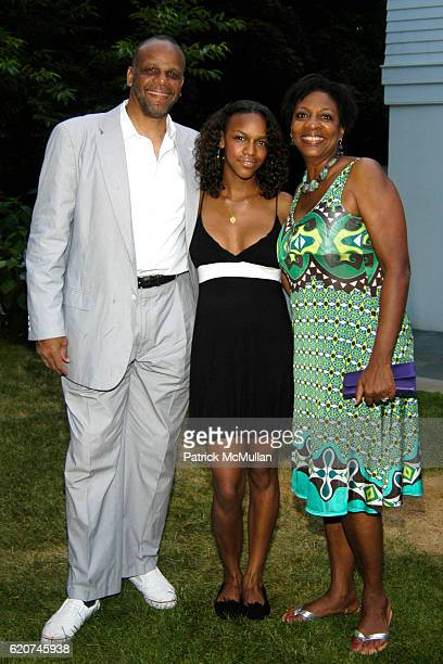 Bill Roden Rayissa Lopez Roden and Sharon Lopez attend The Rush Philanthropic ART FOR LIFE Party hosted by Don and Katrina Peebles at The Home of Don...
