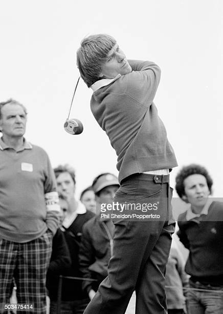 Bill Rogers of the United States tees off during the British Open Golf Championship held at the Royal St George's Golf Club in Kent 19th July 1981...