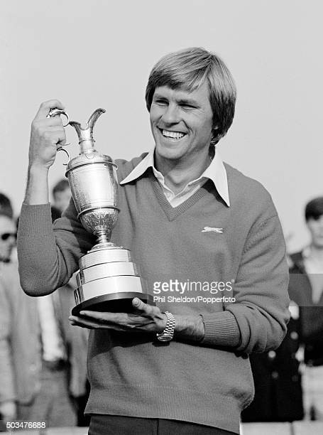 Bill Rogers of the United States with the trophy after winning the British Open Golf Championship held at the Royal St George's Golf Club in Kent...