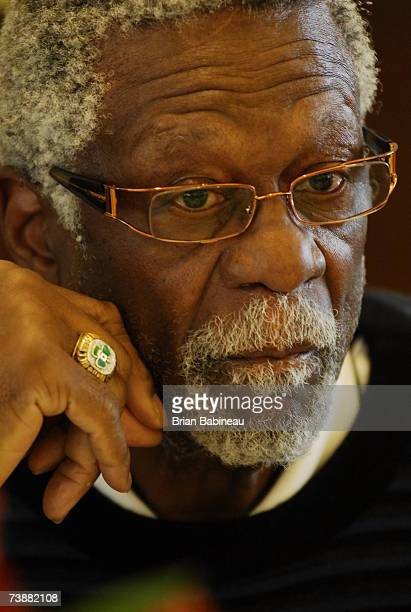 Bill Russell of the 1957 Boston Celtics at the 50th anniversary lunch for the 1957 Boston Celtics on April 13 2007 at the TD Banknorth Garden in...