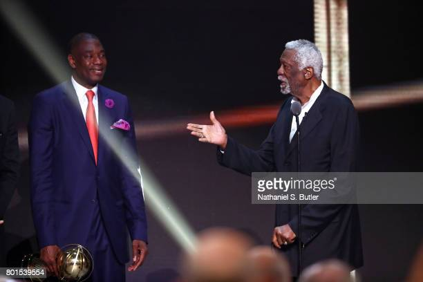 Bill Russell receives the Lifetime Achievement Award at the NBA Awards Show on June 26 2017 at Basketball City at Pier 36 in New York City New York...