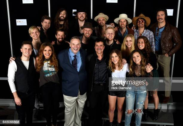 Bill Satcher Graham DeLoach Michael Hobby and Zach Brown of A Thousand Horses Jess Carson Cameron Duddy and Mark Wystrach of Midland Eric Holljes...