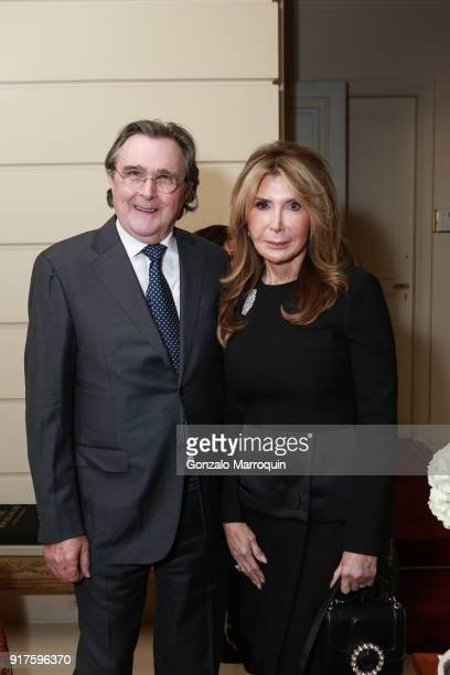 Bill Sclight and Cheri Kaufman during the Susan Gutfreund Hosts UN Women For Peace Association Reception on February 12 2018 in New York City