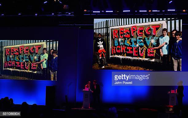 Bill Shankly Community award at the Liverpool FC End of Season Awards at The Exhibition Centre on May 12 2016 in Liverpool England