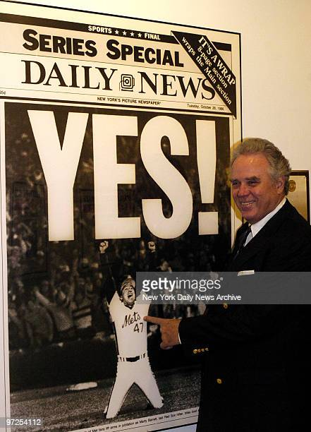 Bill Shea Jr 69 years old son of the late William Shea of legendary Shea Stadium fame visits the New York Daily News Mr Shea stops to admire a very...