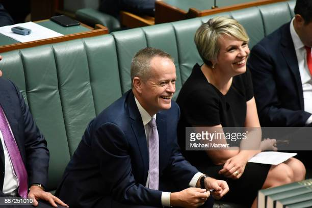 Bill Shorten votes against an amendment to the marriage equality bill in the House of Representatives at Parliament House on December 7 2017 in...