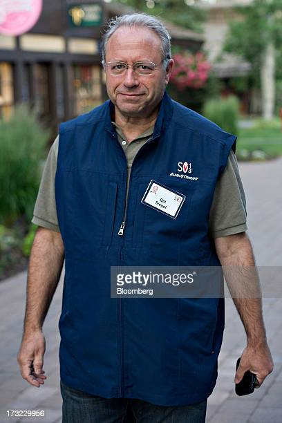 Bill Siegel founder and chief executive officer of Longwoods International arrives for a morning session during the Allen Co Media and Technology...
