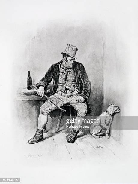 Bill Sikes and his dog c1894 The villain from Oliver Twist From Charles Dickens A Gossip about his Life by Thomas Archer published c1894