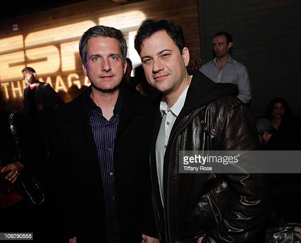 Bill Simmons and Jimmy Kimmel attend the ESPN Magazine's After Dark NBA AllStar Party at My House on February 18 2011 in Hollywood California