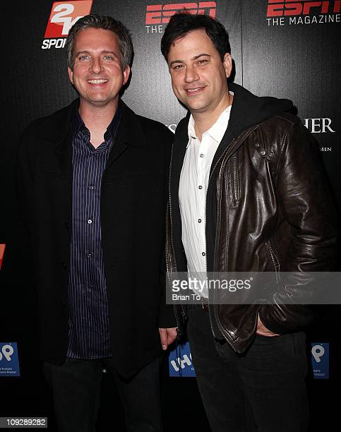 Bill Simmons and Jimmy Kimmel host ESPN The Magazine after dark NBA AllStar party at MyHouse Nightclub on February 18 2011 in Hollywood California
