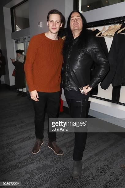 Bill Skarsgard and Jonas Akerlund attend The Hollywood Reporter 2018 Sundance Studio at Sky Strada Park City on January 22 2018 in Park City Utah