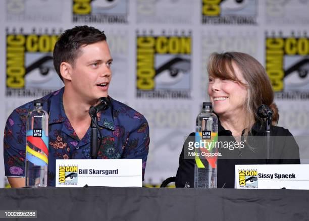 Bill Skarsgard and Sissy Spacek speak onstage at Hulu's World Premiere Screening of Castle Rock during ComicCon International 2018 at San Diego...