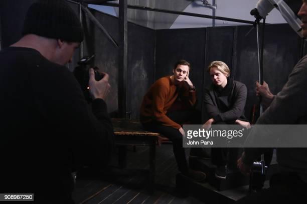 Bill Skarsgard and Valter Skarsgard attend The Hollywood Reporter 2018 Sundance Studio at Sky Strada Park City on January 22 2018 in Park City Utah