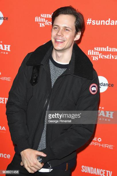 Bill Skarsgard attends the 'Assassination Nation' Premiere during the 2018 Sundance Film Festival at Park City Library on January 21 2018 in Park...
