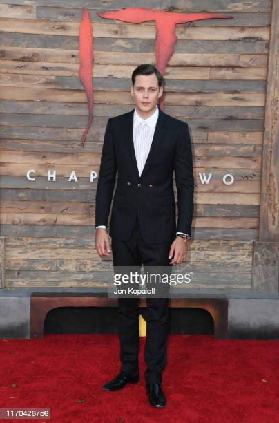 "Bill Skarsgard attends the Premiere Of Warner Bros. Pictures' ""It Chapter Two"" at Regency Village Theatre on August 26, 2019 in Westwood, California."