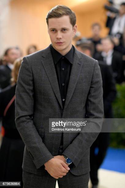 Bill Skarsgard attends the Rei Kawakubo/Comme des Garcons Art Of The InBetween Costume Institute Gala at Metropolitan Museum of Art on May 1 2017 in...