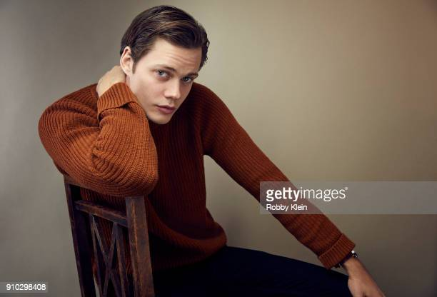 Bill Skarsgard from 'Assassination Nation' poses for a portrait at the YouTube x Getty Images Portrait Studio at 2018 Sundance Film Festival on...