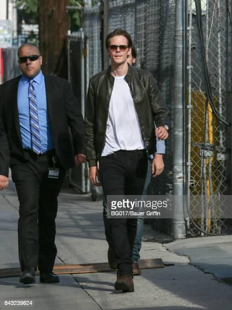 Bill Skarsgard is seen at 'Jimmy Kimmel Live' on September 05 2017 in Los Angeles California