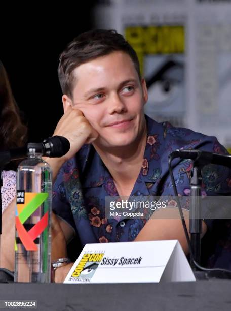 Bill Skarsgard speaks onstage at Hulu's World Premiere Screening of Castle Rock during ComicCon International 2018 at San Diego Convention Center on...