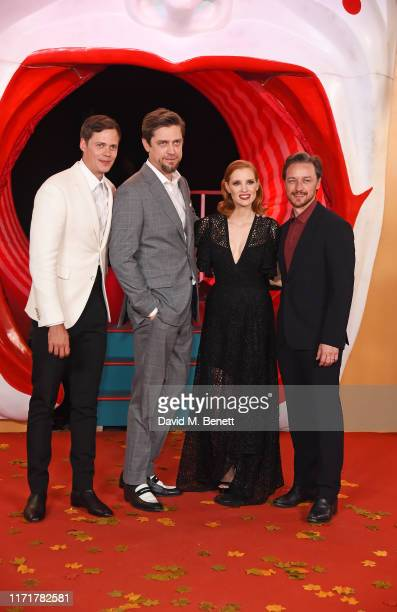 Bill Skarsgård Andy Muschietti Jessica Chastain and James McAvoy attend the European Premiere of IT Chapter Two at The Vaults Waterloo on September...