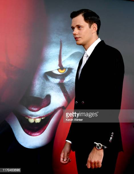 Bill Skarsgård arrives at the premiere of Warner Bros Pictures It Chapter Two at Regency Village Theatre on August 26 2019 in Westwood California