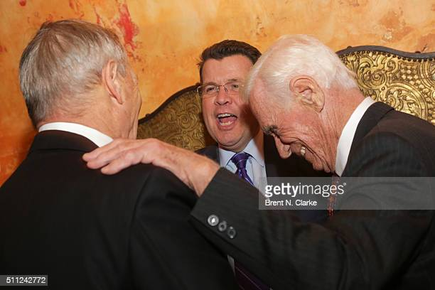 """Bill Smith, television journalist Neil Cavuto and former Apollo astronaut Captain Gene Cernan attend """"The Last Man on the Moon"""" New York screening..."""