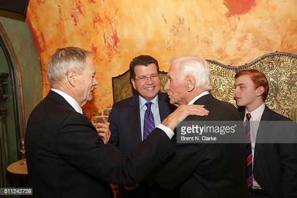 "Bill Smith, television journalist Neil Cavuto, former Apollo astronaut Captain Gene Cernan and Bradley Cavuto attend ""The Last Man on the Moon"" New..."