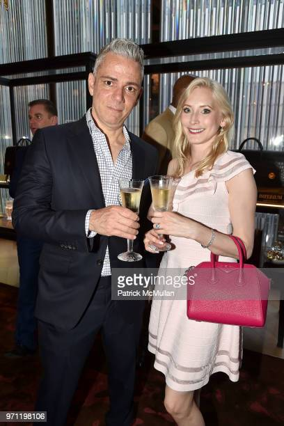 Bill Stamatakis and Mariann Stamatakis attend Christopher R King Debuts New Luxury Brand CCCXXXIII at Baccarat Hotel on June 5 2018 in New York City