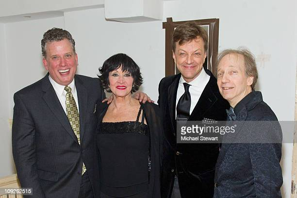 Bill Stritch Chita Rivera Jim Caruso and Scott Siegel attend The Best of Jim Caruso's Cast Party at Town Hall on February 17 2011 in New York City