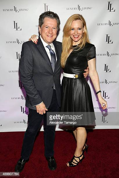 Bill Stubbs and Jenna Drey attend Luxury Living Showroom Art Basel Miami Beach Event on December 3 2014 in Miami Florida