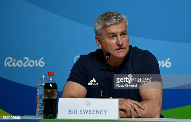 Bill Sweeney CEO British Olympic Association during a press conference hosted by the British Olympic Association held at the MPC on August 1 2016 in...