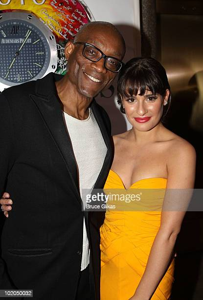 Bill T. Jones and Lea Michele attend the 64th Annual Tony Awards at Radio City Music Hall on June 13, 2010 in New York City.