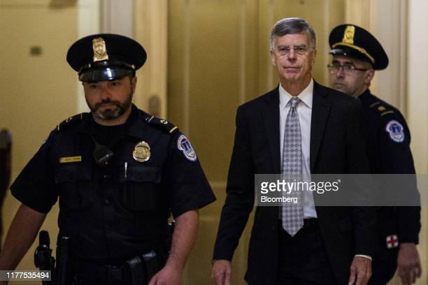 Bill Taylor acting US ambassador to Ukraine arrives to testify for a closeddoor deposition before House committees on Capitol Hill in Washington DC...