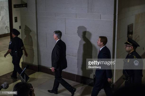 Bill Taylor acting US ambassador to Ukraine center arrives to testify for a closeddoor deposition before House committees on Capitol Hill in...