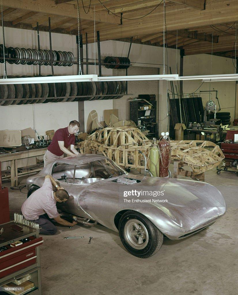 Bill Thomas Chevrolet Cheetah GT Race Car Fabrication Shop With - Thomas chevy car show