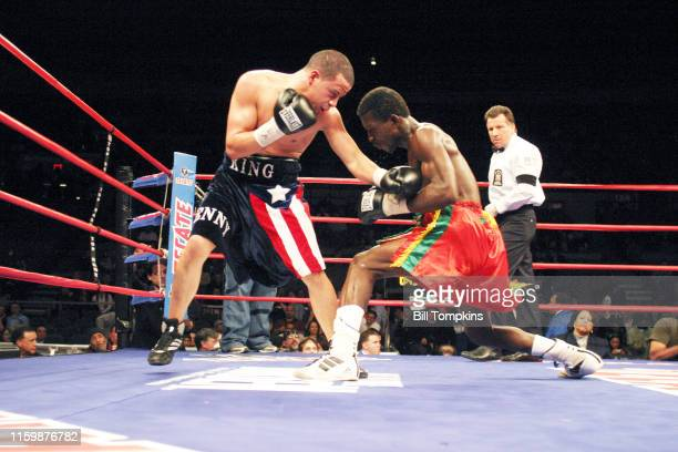 February 21: MANDATORY CREDIT Bill Tompkins/Getty Images 21 February 2009: Lante Addy of Los Angeles, CA and Jorge Diaz of Jersey City, NJ fight in...