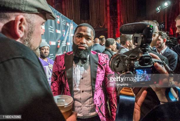 Bill Tompkins/Getty Images Adrien Broner speaks to the Media during SHOWTIME SPORTS 2018 Boxing Announcements at Cipriani on Jnauary 24, 2018 in New...