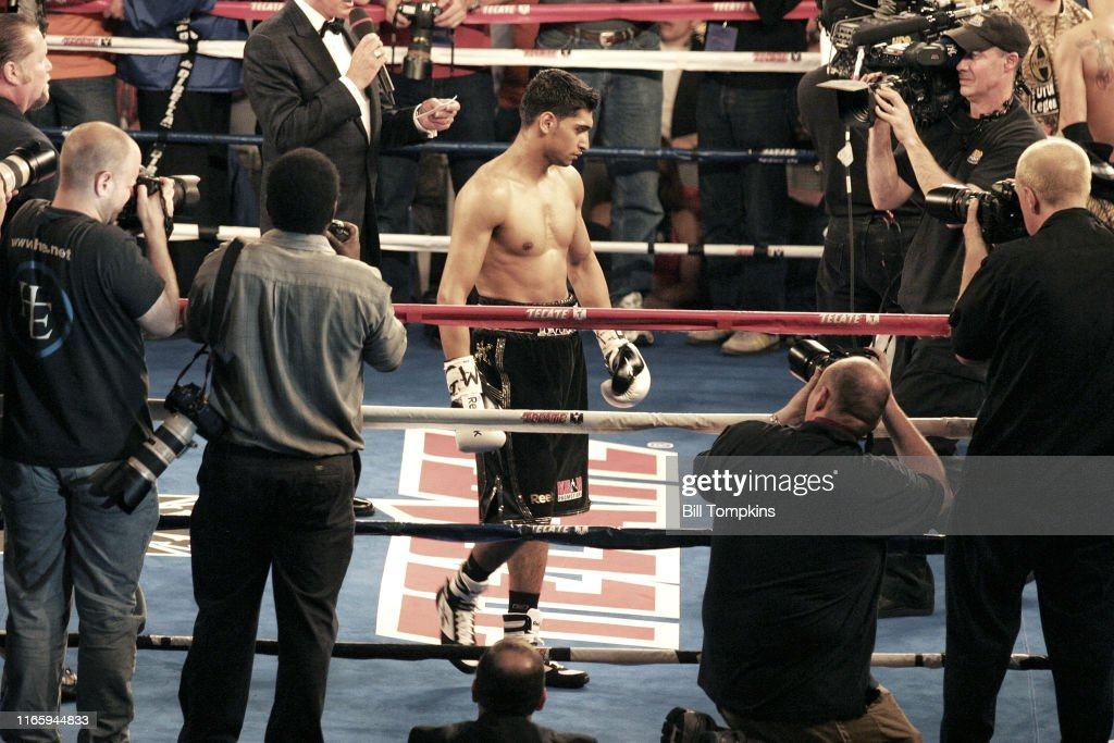 Bill Tompkins Amir Khan vs Paulie Malignaggi Archive : News Photo