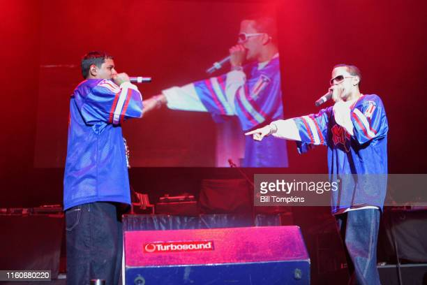 MANDATORY CREDIT Bill Tompkins/Getty Images Angel and Kriz appearing at the MEGA 979 Reggaeton concert at Madison Square Gardenn November 24 2005 in...