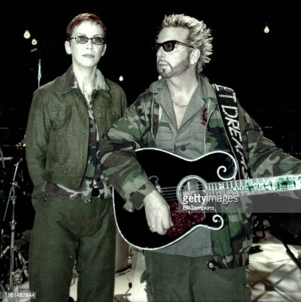 June 2003: MANDATORY CREDIT Bill Tompkins/Getty Images Annie Lennox and Dave Stewart perfoming in Chicago.